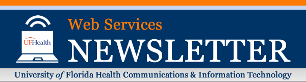 UF Health Web Services Newsletter header image
