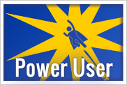 "image of man flying with the words ""power user"" overlayed"