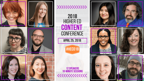 2018 Higher Ed Content Conference banner